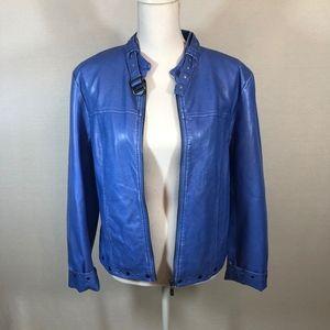 Pamela McCoy Faux Leather Stud Detail Moto Jacket